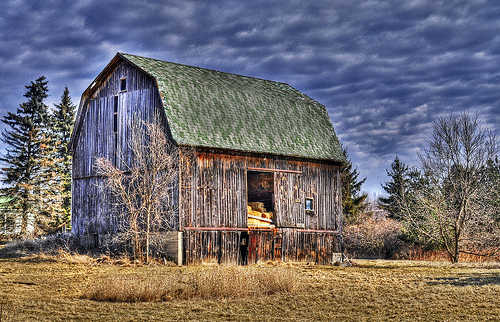A barn in rural Michigan