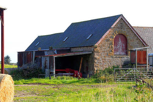 Stone barn in Dornoch, UK