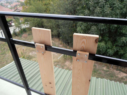 Attaching Wooden Boards To A Steel Guardrail Shedbuilder Info