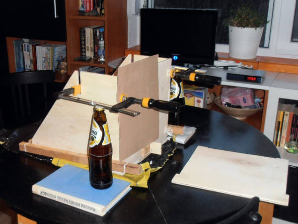 clamping with beer bottles