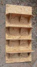 Shed shelves from OSB / Aspenite