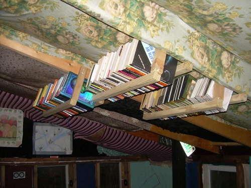 Overhead bookcase by nikolardo at Instructables