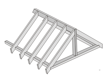Marvelous The Rafters Form Roof Frames