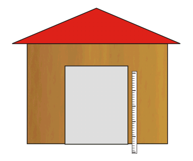Taking measures for a shed door