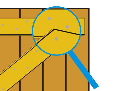 Attaching the braces to the ledges>