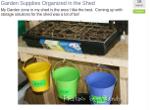 Garden tools organized