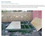 Wooden shed foundation