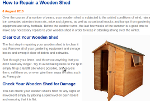 Repairing wooden shed